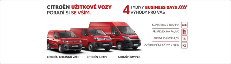 4 týdny CITROEN BUSINESS DAYS